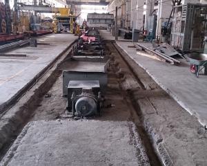 Подготовка рельс путей бетоноукладчика