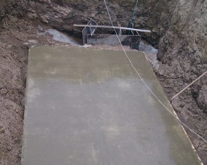 Подбетонка резервуара